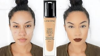 getlinkyoutube.com-Full Coverage & 24 Hour?! | Lancome Teint Idole Ultra 24H Foundation Review + Demo
