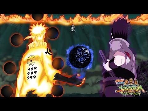 Sage of Six Paths Naruto & Rinnegan Sasuke vs Rikudo Madara - Naruto Storm Revolution