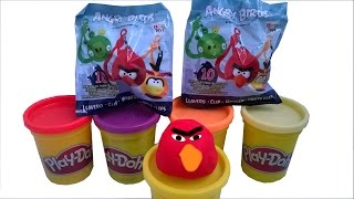 getlinkyoutube.com-Play Doh Surprise Lucky Blind Bag Angry Birds