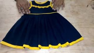 getlinkyoutube.com-How To Cutting And Sweing Baby Doll Frock