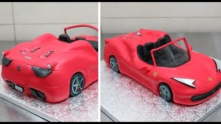 getlinkyoutube.com-How To Make A Ferrari Car Cake  - CakesStepbyStep