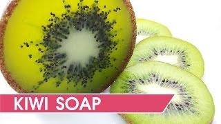 getlinkyoutube.com-How to make kiwi soap - DIY Soap making