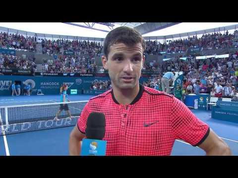 Grigor Dimitrov On-court Interview (SF) | Brisbane International 2017