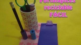 getlinkyoutube.com-Portalápices reciclable FÁCIL | PumitaNegraArt🐾