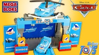 getlinkyoutube.com-Disney Cars Dinoco Stage Mega Bloks 7785 Lightning McQueen Rayo McQueen Toy Review Cars for Kids