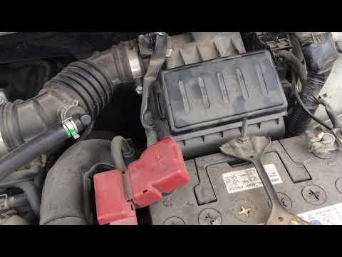 Замена воздушного фильтра на Ниссан Тиида. #Nissan#Tiida
