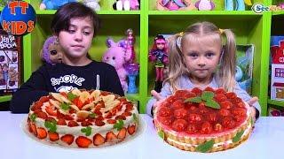 getlinkyoutube.com-ТОРТ ЧЕЛЛЕНДЖ от Ярославы! ВЫЗОВ ПРИНЯТ! Видео для детей Сладкий Челлендж Cake Challenge