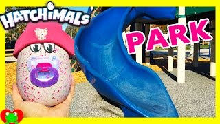 getlinkyoutube.com-Baby Hatchimal Plays At Park Sister Draggle or Penguala?