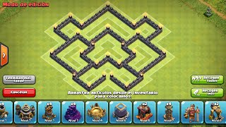 getlinkyoutube.com-#Diseños de aldea Th6 defensa/guerra | Th6 Defense and War base