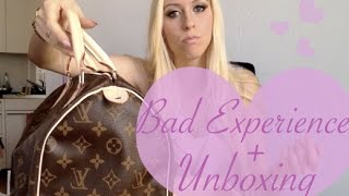 getlinkyoutube.com-BAD Louis Vuitton Experience + Speedy 30 Monogram Canvas Unboxing