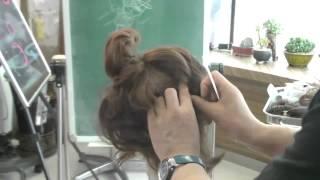 getlinkyoutube.com-980 짧은머리 롤기법연출(고모이모머리)2-1