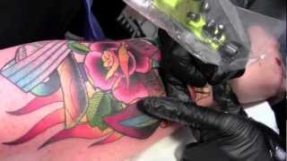 "getlinkyoutube.com-NEW Color Tattoo by artist ""Ian Preeper"""