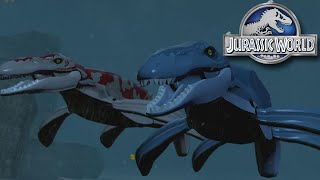 MOSASAUR GAMEPLAY!! Jurassic World LEGO Game