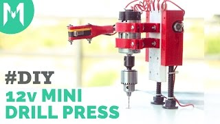 getlinkyoutube.com-3D Print - Mini 12V Drill Press