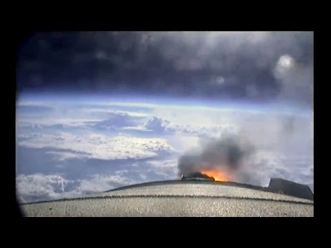 Endeavour's Launch from Booster Cameras