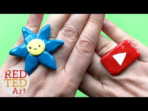 Easy Kawaii Flower Ring DIY - Polymer Clay DIYs