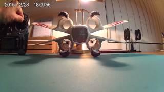 getlinkyoutube.com-Air Hogs Star Wars X-wing Star Fighter modification (Spektrum DSMX) close up
