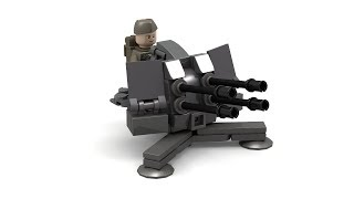 getlinkyoutube.com-Lego WWII Flak 38mm AA Gun Instructions