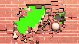 getlinkyoutube.com-Green Screen Intro Brick Wall Explosion - Footage PixelBoom