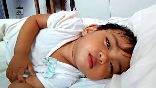 Zia sleeping with her eyes open