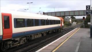 Class 444 calls at Wareham with a Waterloo train.