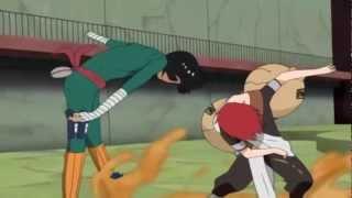 getlinkyoutube.com-Gaara vs Rock Lee Full Fight English Dub [720p] HD