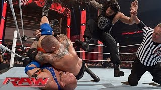 getlinkyoutube.com-Roman Reigns vs. Randy Orton vs. Ryback – No. 1 Contender's Match: Raw, April 6, 2015