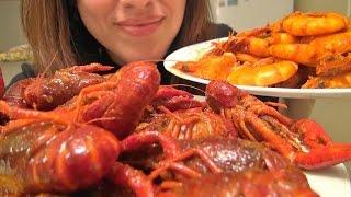 getlinkyoutube.com-Eating Show: Cajun Crawfish/Crayfish/Mudbugs | Anniversary Video