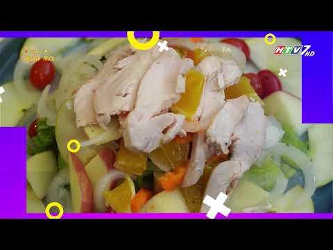 Salad gà sốt táo thơm