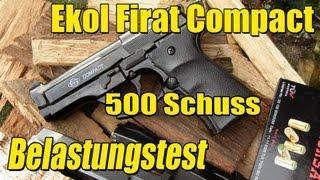 getlinkyoutube.com-Ekol Firat Compact 500 Schuss Belastungstest