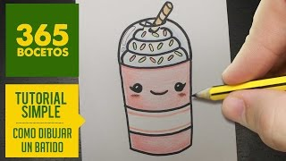 getlinkyoutube.com-COMO DIBUJAR UN BATIDO KAWAII PASO A PASO - Dibujos kawaii faciles - How to draw a milkshake