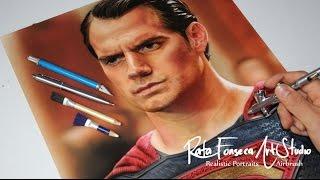 Painting superman - Man Of Steel / Airbrush Superman - Man Of Steel, Hernry Cavill