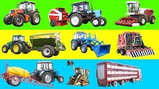 getlinkyoutube.com-Мультик про комбайн Мультик про машинки Мультик про трактор Сельхозтехника для детей