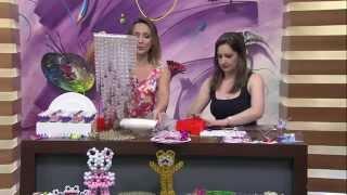 getlinkyoutube.com-Como fazer Lustre de acrílico e Flor de tulipa