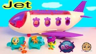 getlinkyoutube.com-LPS Airplan JET Playset Littlest Pet Shop Exclusive Bobbleheads Toy Unboxing Video - Cookieswirlc