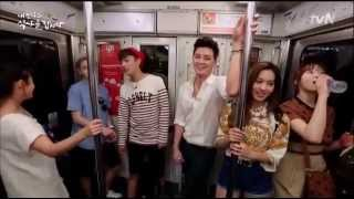 getlinkyoutube.com-BEAST 비스트 Yoon Doojoon and Yang Yoseob traveling with subway in Paris