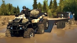 6x6 POLARIS ATV MUDDING & OFF-ROADING! Sportsman Big Boss! (SpinTires Mods)