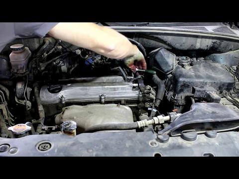 Toyota Harrier Тойота Харриер 2003 года Замена прокладки крышки клапанов и свечей зажигания