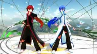 getlinkyoutube.com-[MMD] Akaito & Kaito - Butterfly On Your Right Shoulder