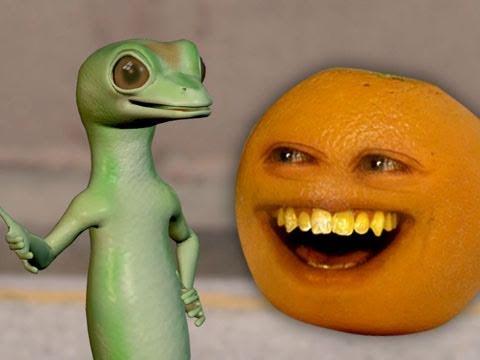 Annoying Orange vs. Gecko (Geico Spoof)