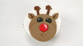 getlinkyoutube.com-Super Easy Reindeer Cupcake by CakeCraftWorld.co.uk