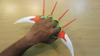 How to Make a Paper  knuckles sword - Easy paper knife ,blade tutorials