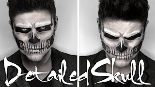 getlinkyoutube.com-Lady Gaga Skull Makeup | Halloween Tutorial | Alex Faction