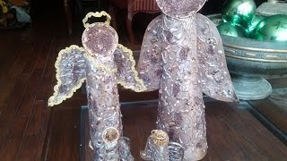 getlinkyoutube.com-DIY Angelito con rollos de papel del baño/ Angels made ​​from toilet paper rolls