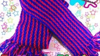 getlinkyoutube.com-Bufanda de 2 colores con telar (paso a paso) ★SUPERMANUALIDADES★