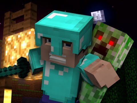 """Revenge"" - A Minecraft Parody of Usher's DJ Got Us Fallin' in Love - Crafted Using Noteblocks"