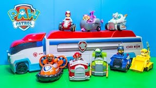 getlinkyoutube.com-PAW PATROL Nickelodeon Vehicles Numbers Paw Patroller Video Toys Review