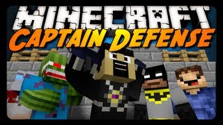 getlinkyoutube.com-Minecraft: CAPTAIN DEFENSE! w/ AntVenom & Friends (Mini-Game)