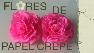 getlinkyoutube.com-Flores de papel crepe