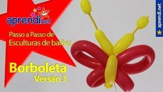 getlinkyoutube.com-Esculturas de Balões - Borboleta - Versão 3